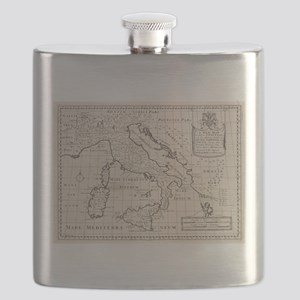 Vintage Map of Italy (1700) Flask