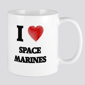 I Love Space Marines Mugs