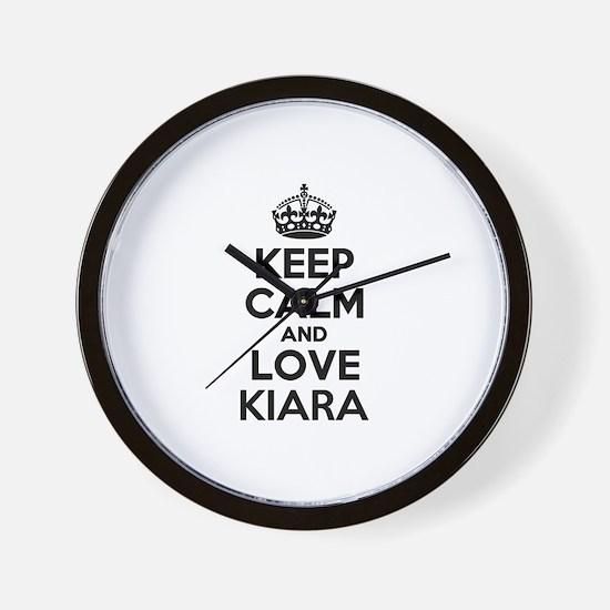 Keep Calm and Love KIARA Wall Clock