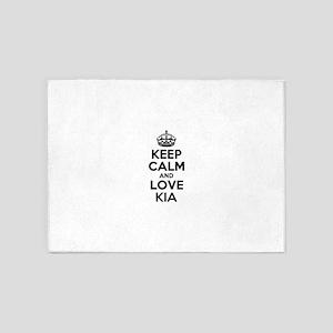 Keep Calm and Love KIA 5'x7'Area Rug