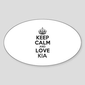 Keep Calm and Love KIA Sticker