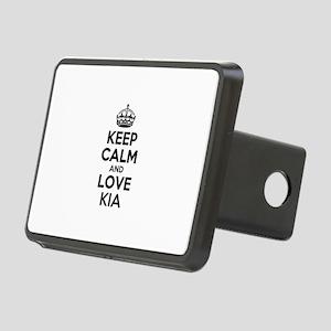 Keep Calm and Love KIA Rectangular Hitch Cover