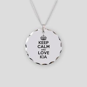 Keep Calm and Love KIA Necklace Circle Charm