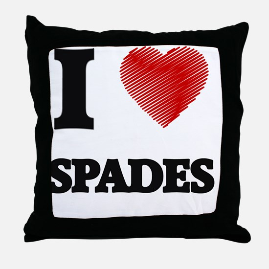 I love Spades Throw Pillow