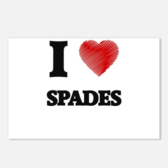 I love Spades Postcards (Package of 8)