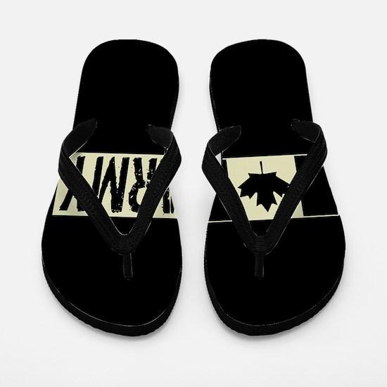 Canadian Military: Army (Black Flag) Flip Flops