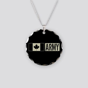 Canadian Military: Army (Bla Necklace Circle Charm