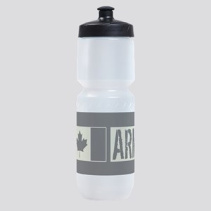 Canadian Military: Army (Black Flag) Sports Bottle