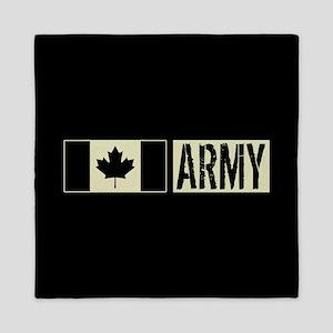 Canadian Military: Army (Black Flag) Queen Duvet