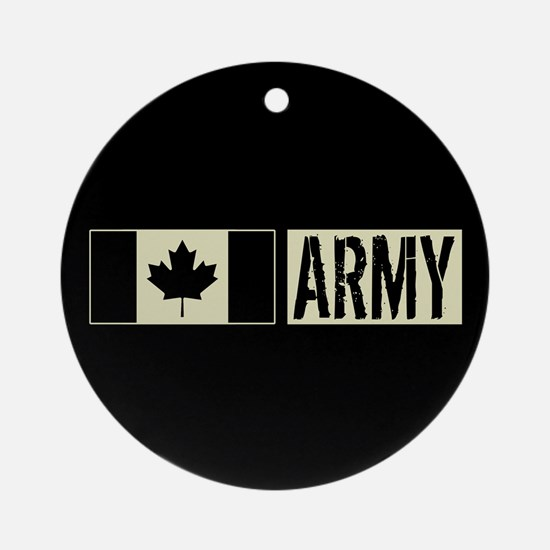 Canadian Military: Army (Black Flag Round Ornament
