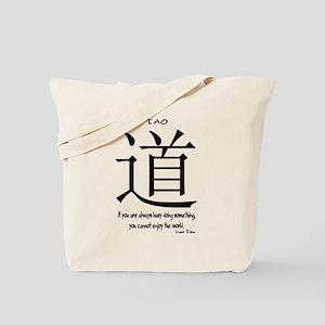 Tao Lao Tzu Quote Tote Bag