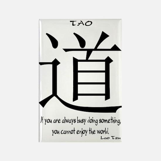 Tao Lao Tzu Quote Rectangle Magnet