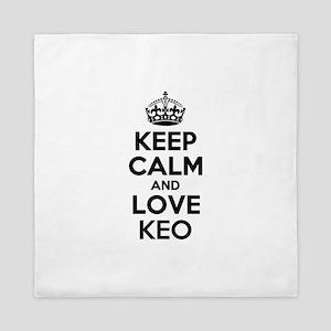 Keep Calm and Love KEO Queen Duvet
