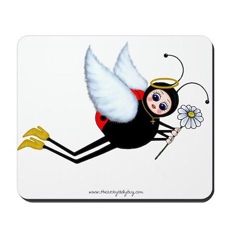 Ladybug Daisy Angel Mousepad