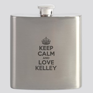 Keep Calm and Love KELLEY Flask