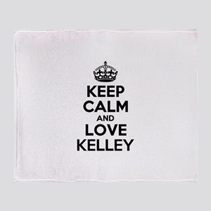 Keep Calm and Love KELLEY Throw Blanket
