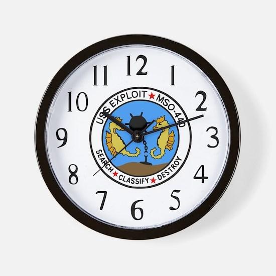 USS Exploit (MSO 440) Wall Clock