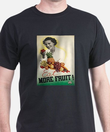 Vintage poster - Eat more fruit T-Shirt