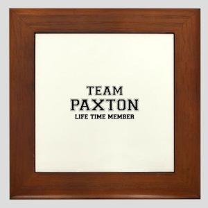 Team PAXTON, life time member Framed Tile