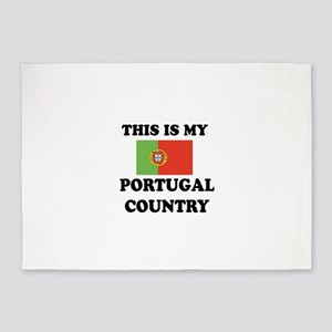This Is My Portugal Country 5'x7'Area Rug