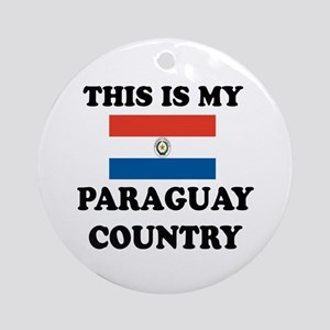 This Is My Paraguay Country Round Ornament