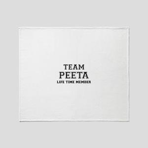 Team PEETA, life time member Throw Blanket