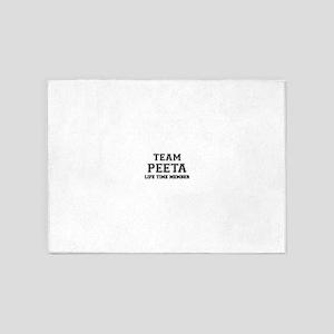 Team PEETA, life time member 5'x7'Area Rug