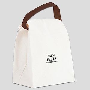Team PEETA, life time member Canvas Lunch Bag