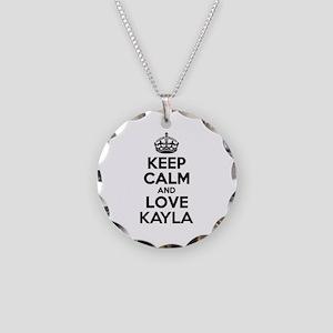 Keep Calm and Love KAYLA Necklace Circle Charm