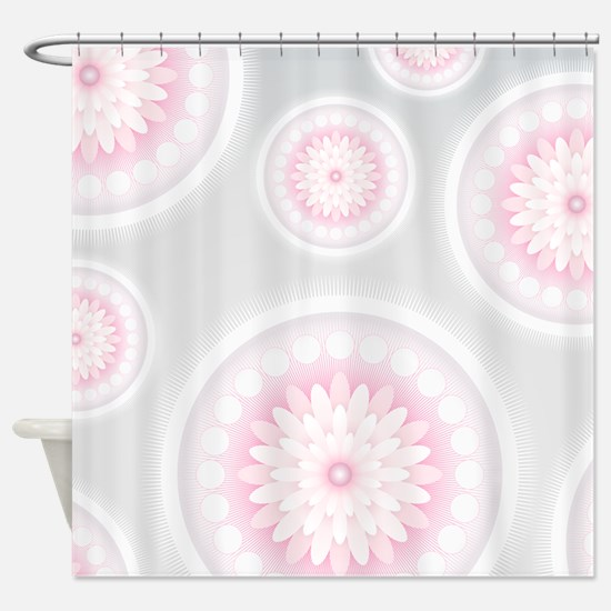 Abstract Floral Mandala Pattern Shower Curtain