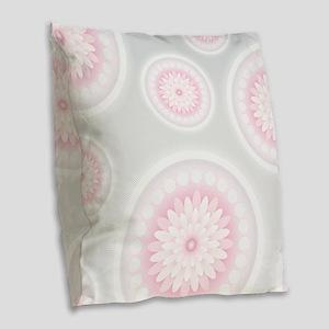 Abstract Floral Mandala Patter Burlap Throw Pillow