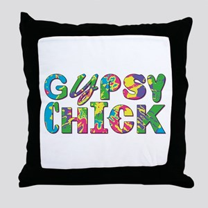 GYPSY CHICK Throw Pillow