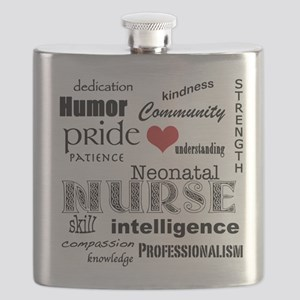 Neonatal Nurse Pride-Red Heart Flask