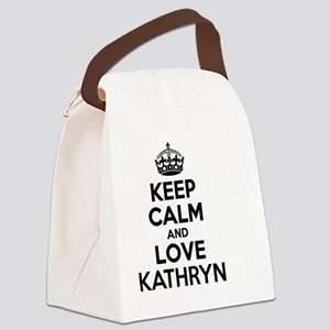 Keep Calm and Love KATHRYN Canvas Lunch Bag