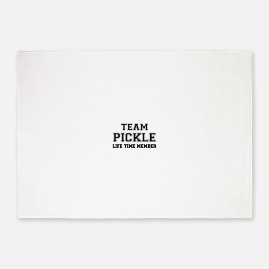 Team PICKLE, life time member 5'x7'Area Rug