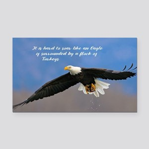 Soar Like an Eagle… if you Can Rectangle Car Magne