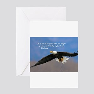 Soar Like an Eagle… if you Can Greeting Cards
