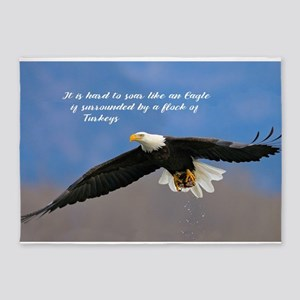 Soar Like an Eagle… if you Can 5'x7'Area Rug