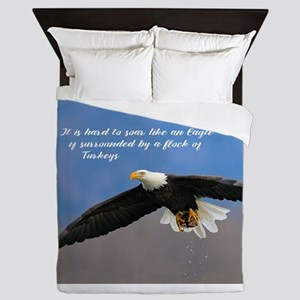 Soar Like an Eagle… if you Can Queen Duvet