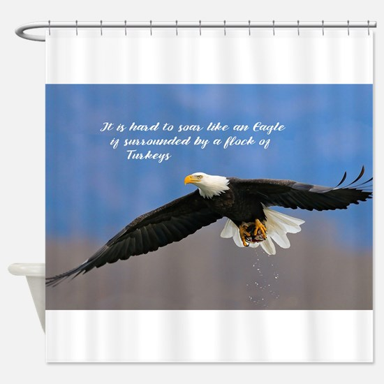 Soar Like an Eagle… if you Can Shower Curtain
