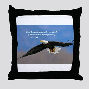 Soar Like an Eagle… if you Can Throw Pillow