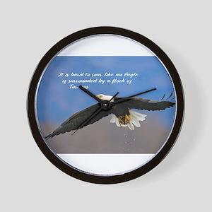 Soar Like an Eagle… if you Can Wall Clock