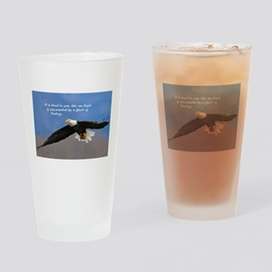 Soar Like an Eagle… if you Can Drinking Glass