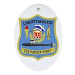USS Patrick Henry (SSBN 599) Oval Ornament