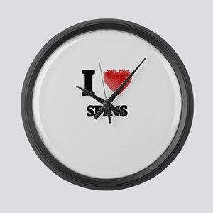 I love Spins Large Wall Clock