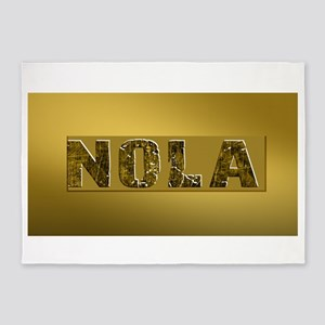NOLA BLACK AND GOLD 4 5'x7'Area Rug