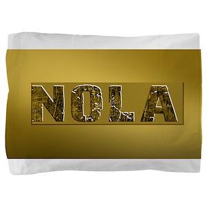 NOLA BLACK AND GOLD 4 Pillow Sham
