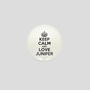 Keep Calm and Love JUNIPER Mini Button