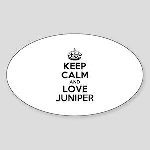 Keep Calm and Love JUNIPER Sticker