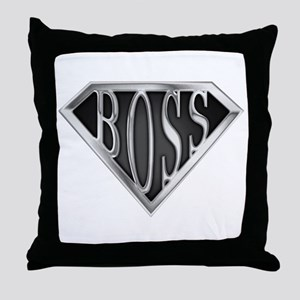 SuperBoss(metal) Throw Pillow